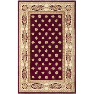Safavieh Handmade Botanical Red New Zealand Wool Rug