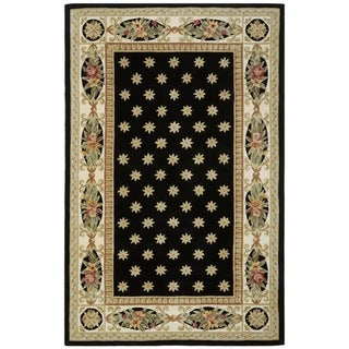 Safavieh Handmade Botanical Black New Zealand Wool Rug