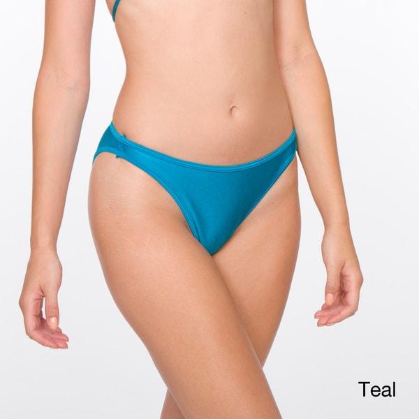 American Apparel Women's Nylon Tricot Flat Bikini Bottoms