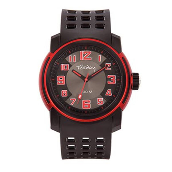 Tekday Men's Black Plastic Sport Watch