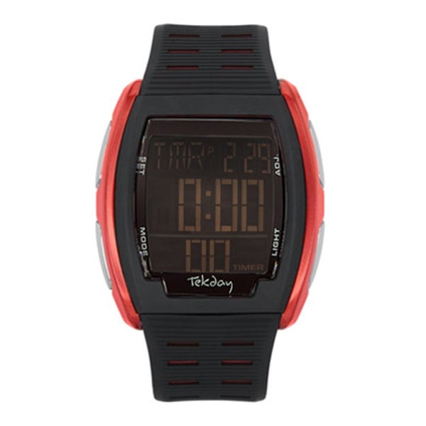 Tekday Men's Tonneau Digital Chronograph Sport Watch