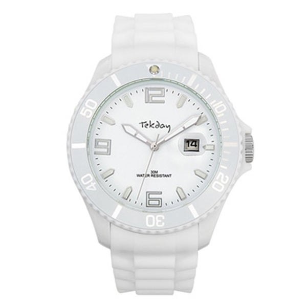 Tekday Women's White Plastic Watch