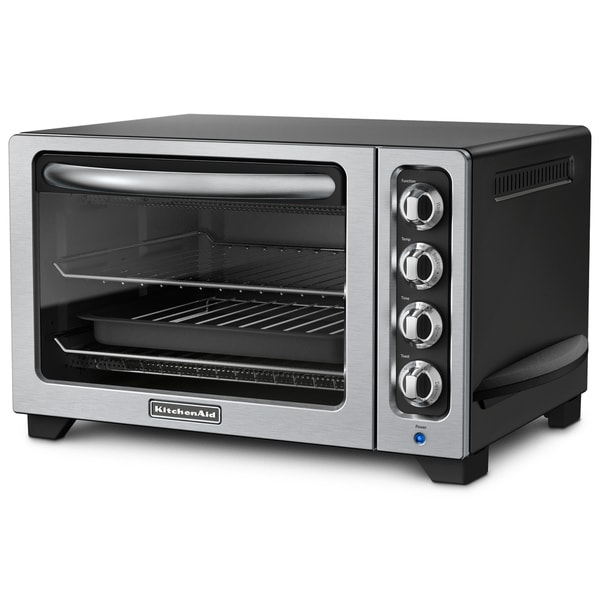 KitchenAid RKCO222OB Onyx Black 12-inch Countertop Oven (Refurbished)