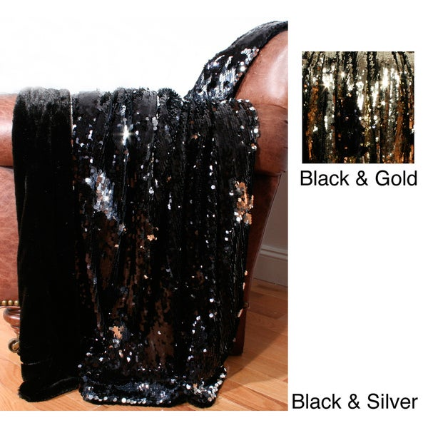 Reversible Sequin 50x60 Throw