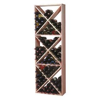Traditional Redwood Wine Rack Solid Diamond Cube