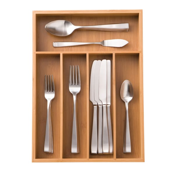 Shop Seville Classics Medium Bamboo Cutlery Tray