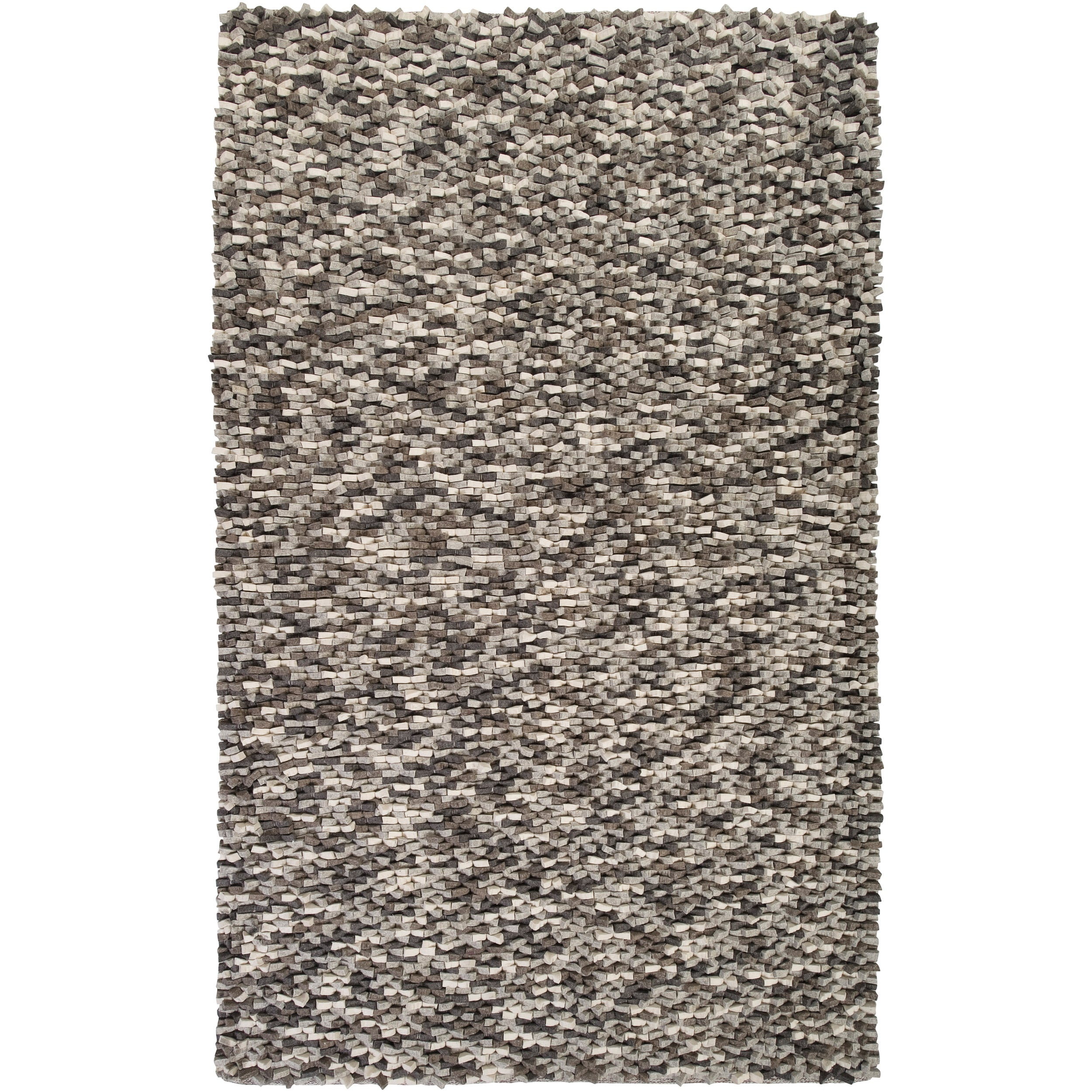 Hand-woven Merced New Zealand Wool Plush Textured Rug (2'...