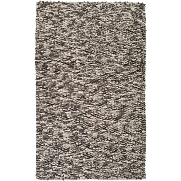 Hand-woven Merced New Zealand Wool Plush Textured Area Rug - 2' x 3'