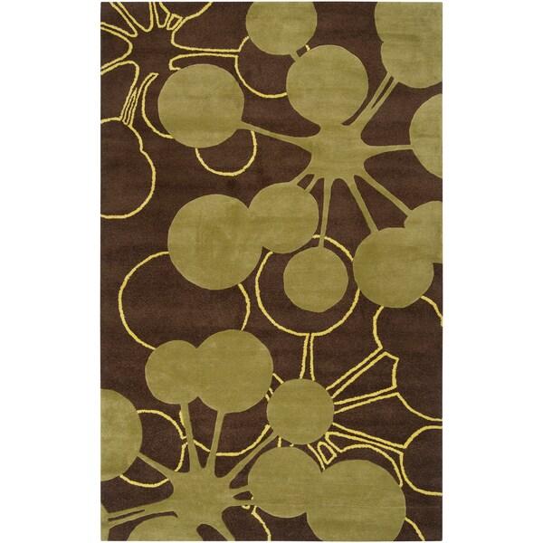 Jef Designs Hand-tufted Denton Geometric Wool Rug (2' x 3')