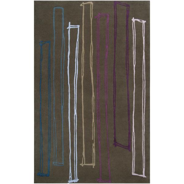 Noah Packard Desing Hand-tufted Brawley Abstract Plush Wool Rug (2' x 3')