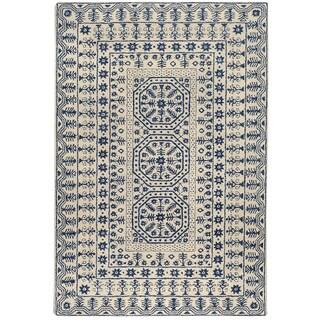 Hand-tufted Brackettville Oriental Pattern WoolRug (2' x 3')
