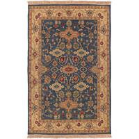 Hand-knotted Bovina Semi-worsted New Zealand Wool Area Rug - 2' x 3'