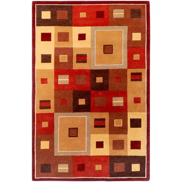 Hand-tufted Mathis Geometric Wool Rug (2' x 3')