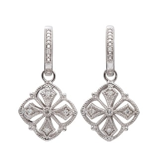 Silver 1/5ct TDW Diamond Vintage-inspired Filigree Earrings (H-I, I2-I3)