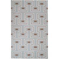 Hand-woven Llano Geometric Wool Area Rug - 2' x 3'