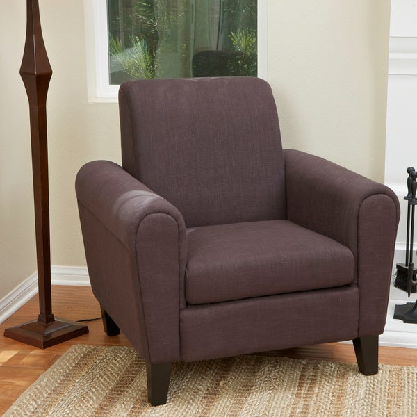 Watson Brown Fabric Club Chair by Christopher Knight Home