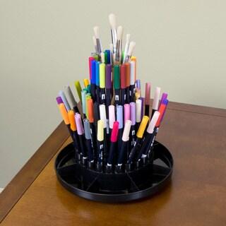 Studio Designs Black Tabletop Desk Carousel|https://ak1.ostkcdn.com/images/products/7300825/P14773128.jpg?_ostk_perf_=percv&impolicy=medium