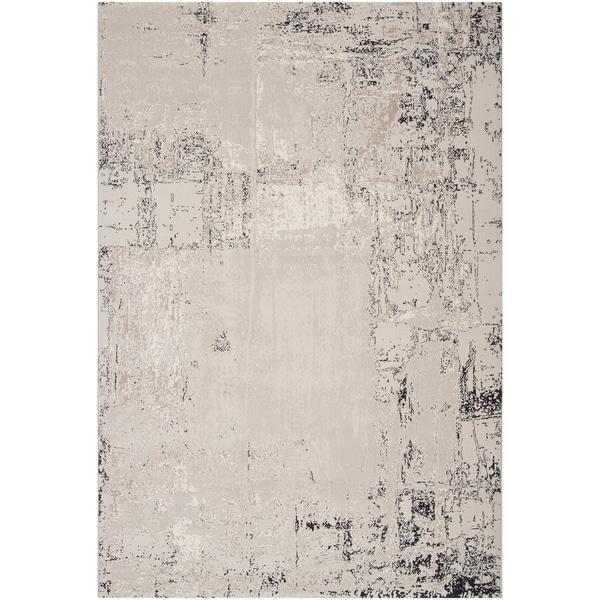 Dumas Grey Abstract Design Rug (2'2 x 3'3)