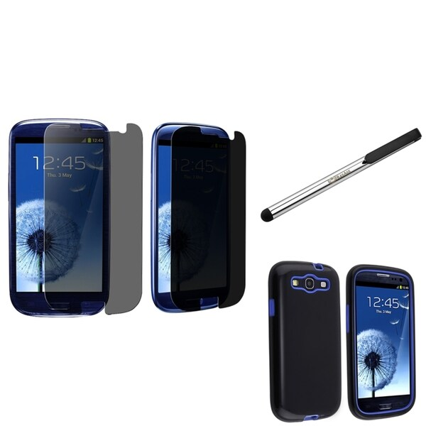 BasAcc Case/ Privacy Protector/ Stylus for Samsung Galaxy S III/ S3