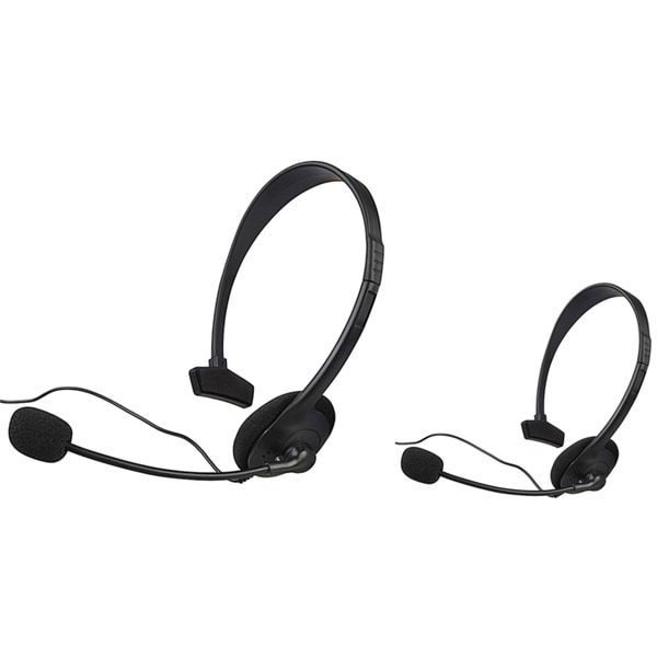 INSTEN Black Headset with Microphone for Microsoft xBox (Pack of 2)