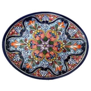 Handmade Ceramic 'A Taste of Mexico' Talavera Serving Plate (Mexico)