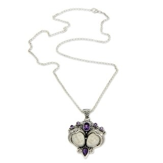 Handmade Sterling Silver 'Royal Romance' Amethyst Necklace (Indonesia)