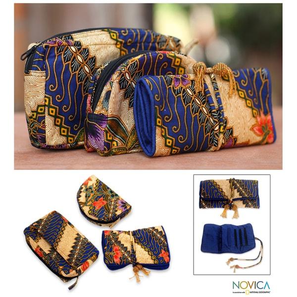 Handmade Cotton 'Jogjakarta Legacy' Batik 3-piece Travel Set (Indonesia)