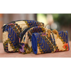 Handmade Cotton 'Jogjakarta Legacy' Batik 3-piece Travel Set (Indonesia)