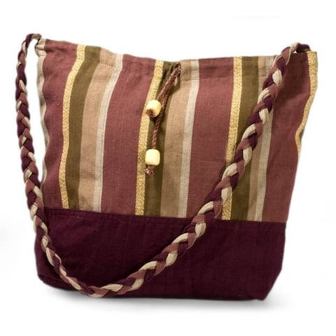Cotton Crimson Lands Medium Shoulder Bag (Thailand)