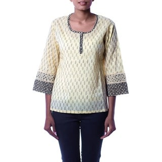 Handmade Women's Cotton 'Desert Dancer' Tunic (India)