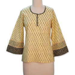 Handmade Women's Cotton 'Desert Dancer' Tunic (India)