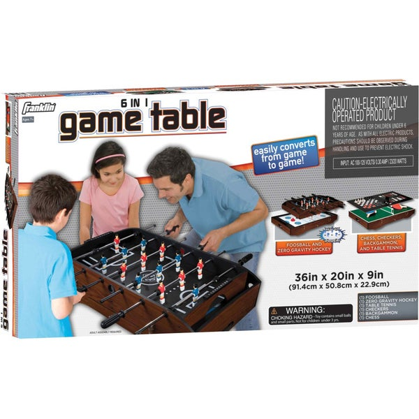 Franklin 6 In 1 Game Table