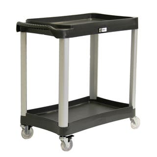 Trinity EcoStorage Black Commercial-grade 2-tier Utility Cart|https://ak1.ostkcdn.com/images/products/7302236/7302236/Trinity-EcoStorage-Black-Commercial-grade-2-tier-Utility-Cart-P14774207.jpg?impolicy=medium