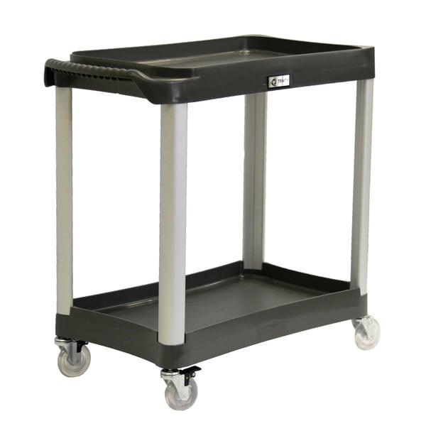 Trinity EcoStorage Black Commercial-grade 2-tier Utility Cart