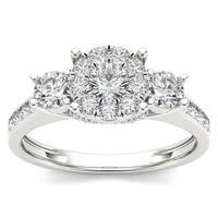 De Couer 10k Gold 1ct TDW Diamond Ring