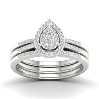 De Couer 10k Gold 1/2ct TDW Diamond Bridal Set (H-I, I2)