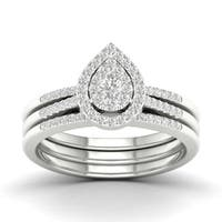 De Couer 10k Gold 1/2ct TDW Diamond Bridal Set