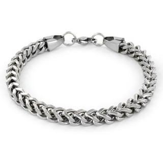 Stainless Steel Men's Franco Box Chain Bracelet (Option: White)