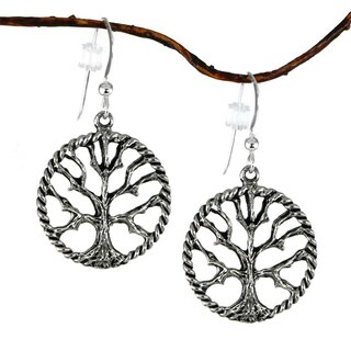 Jewelry by Dawn Antique Pewter Tree Of Life Earrings - Silver