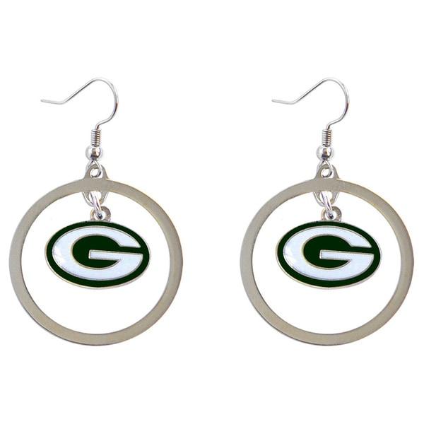 NFL Hoop Logo Earring Set Charm Gift