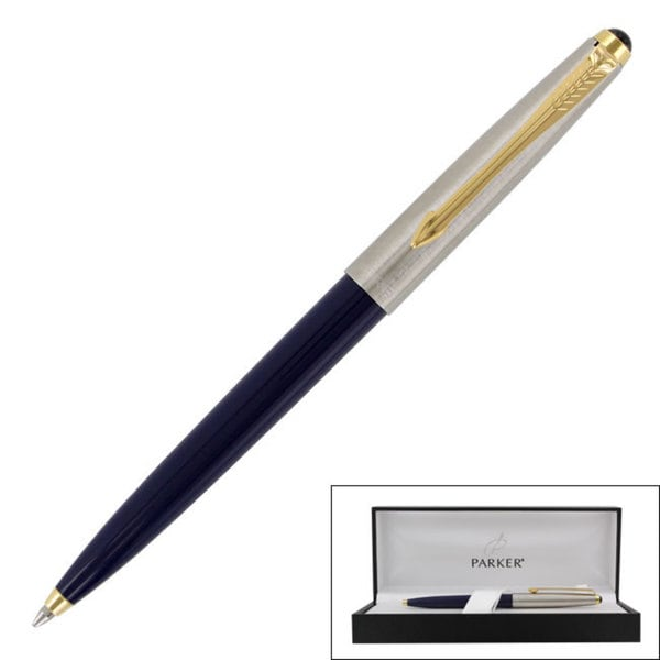 Parker 45 Dark Blue Gold Trim Ballpoint Pen