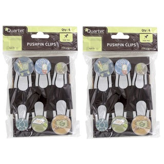 Quartet Bubble Push Pins with Clips (Pack of 12)