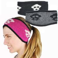 Handmade Happy Skull Winter Headband (Nepal)