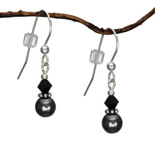 Jewelry by Dawn Small Hematite Double Bead Sterling Silver Earrings