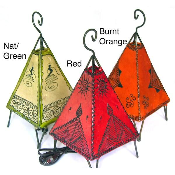 Pyramid Style Henna Lamp (Morocco)