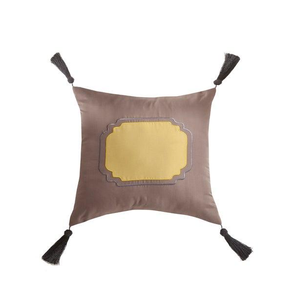 Jasper Tassel Square Decorative Pillow