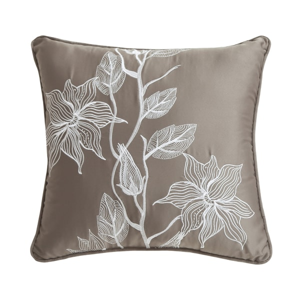 Juliana Embroidered Decorative Leaf Pillow