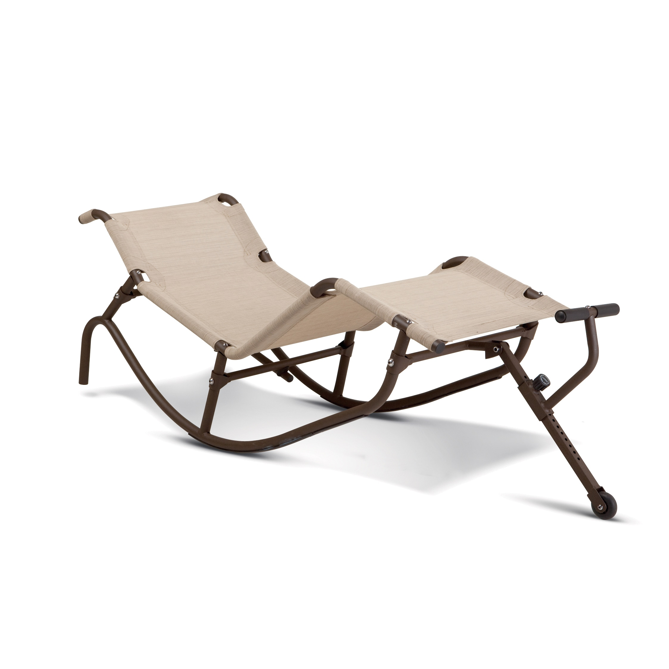IMPEX Easy Outdoor Rocking Lounge Chair, Beige, Patio Fur...