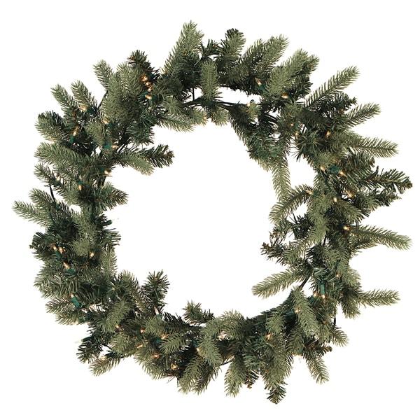 Blue Spruce Pre-lit Wreath (30-inch)