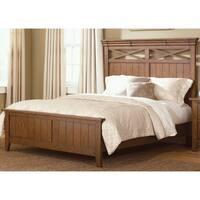 Heathstone Oak King-size Panel Bed